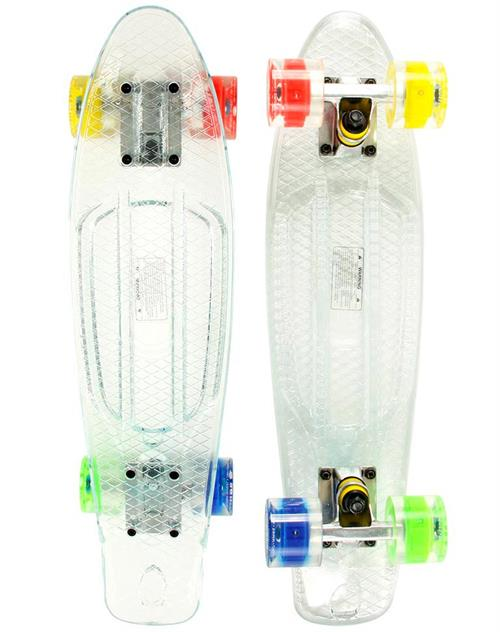 Naked Transparent LED Deluxe Skateboard