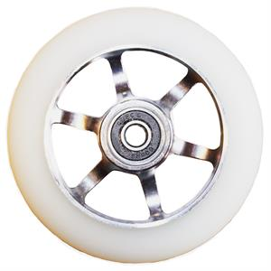 Naked Wheel w. ABEC-9 - White/Silver