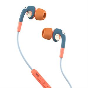Skullcandy Fix in Ear  w. mic - Teal/Coral/Gold